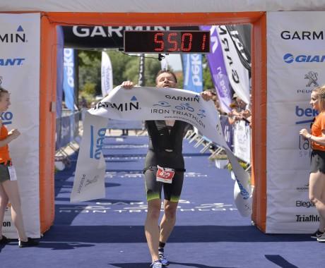 Bartek Latawiec pierwszy w Garmin Triathlon Elbląg